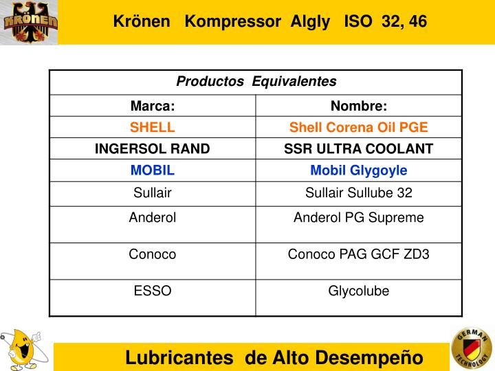 Krönen   Kompressor  Algly   ISO  32, 46