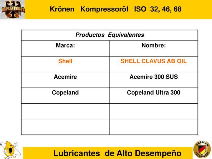 Krönen   Kompressoröl   ISO  32, 46, 68