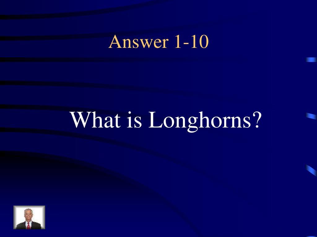 Answer 1-10