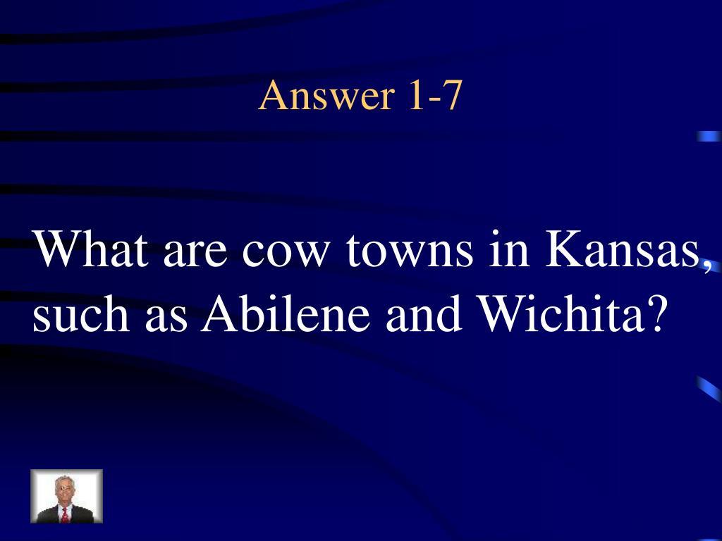 Answer 1-7