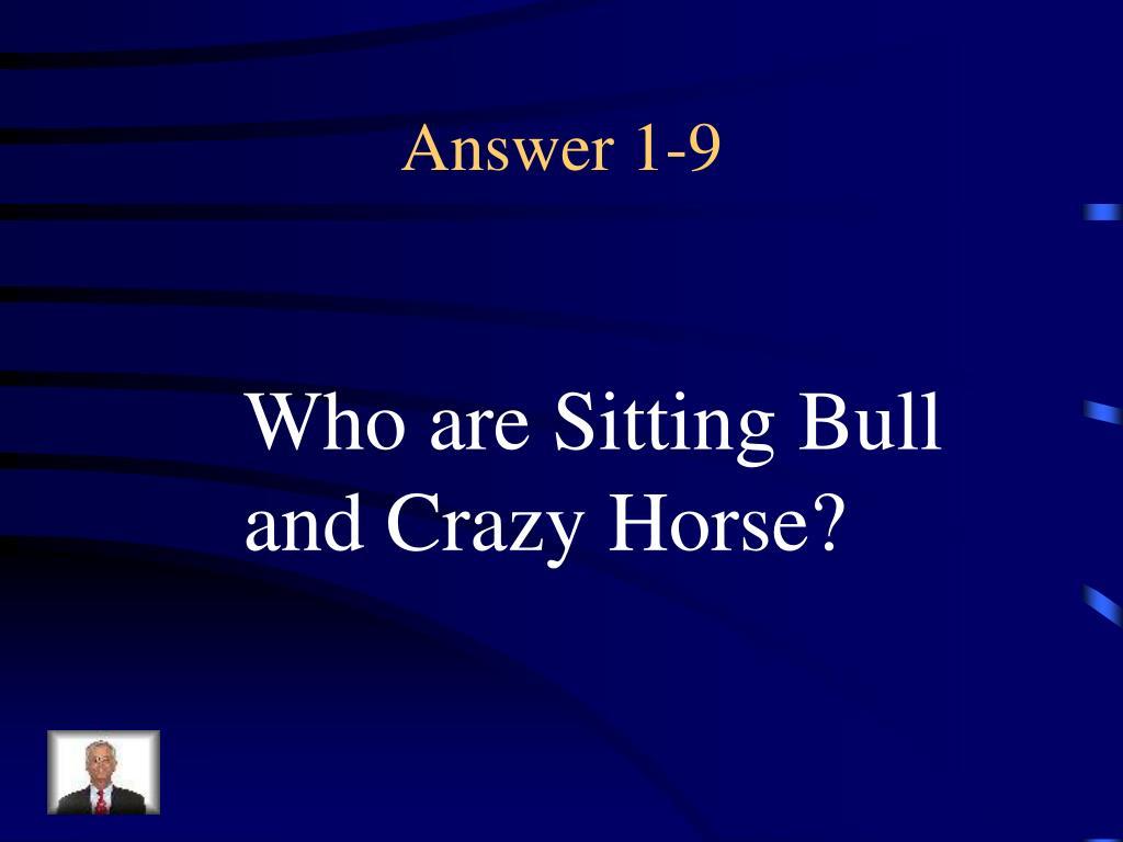 Answer 1-9