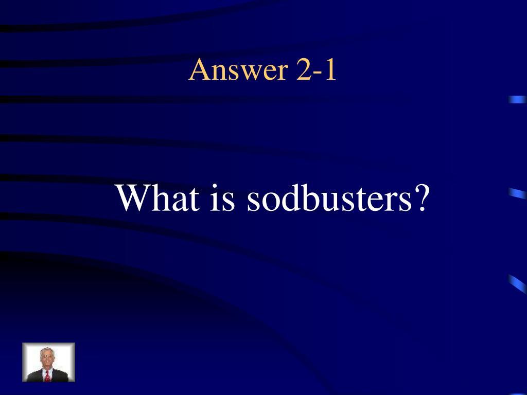 Answer 2-1
