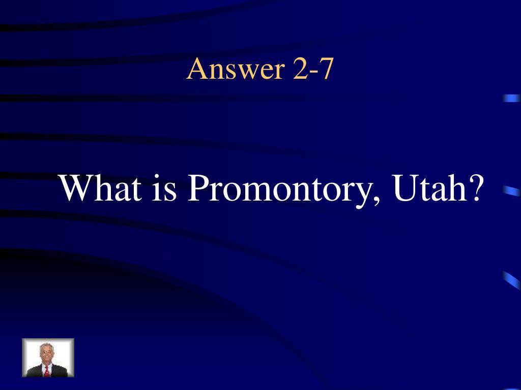 Answer 2-7