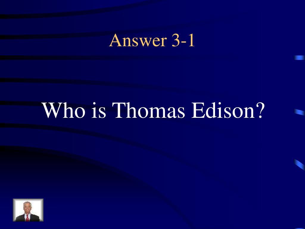 Answer 3-1