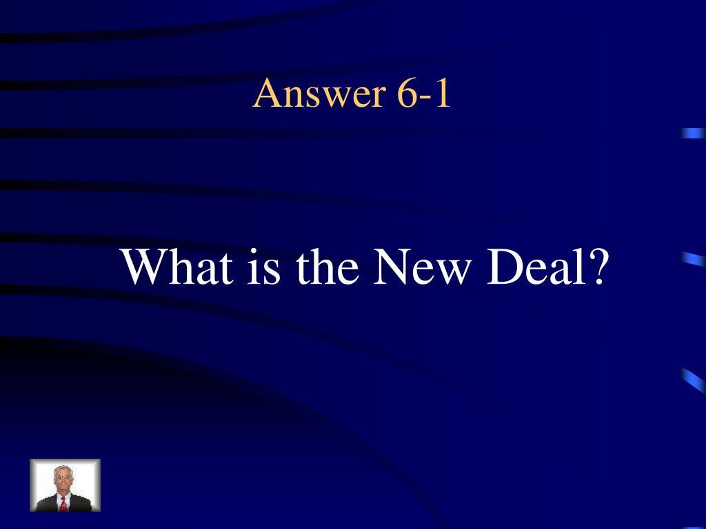 Answer 6-1