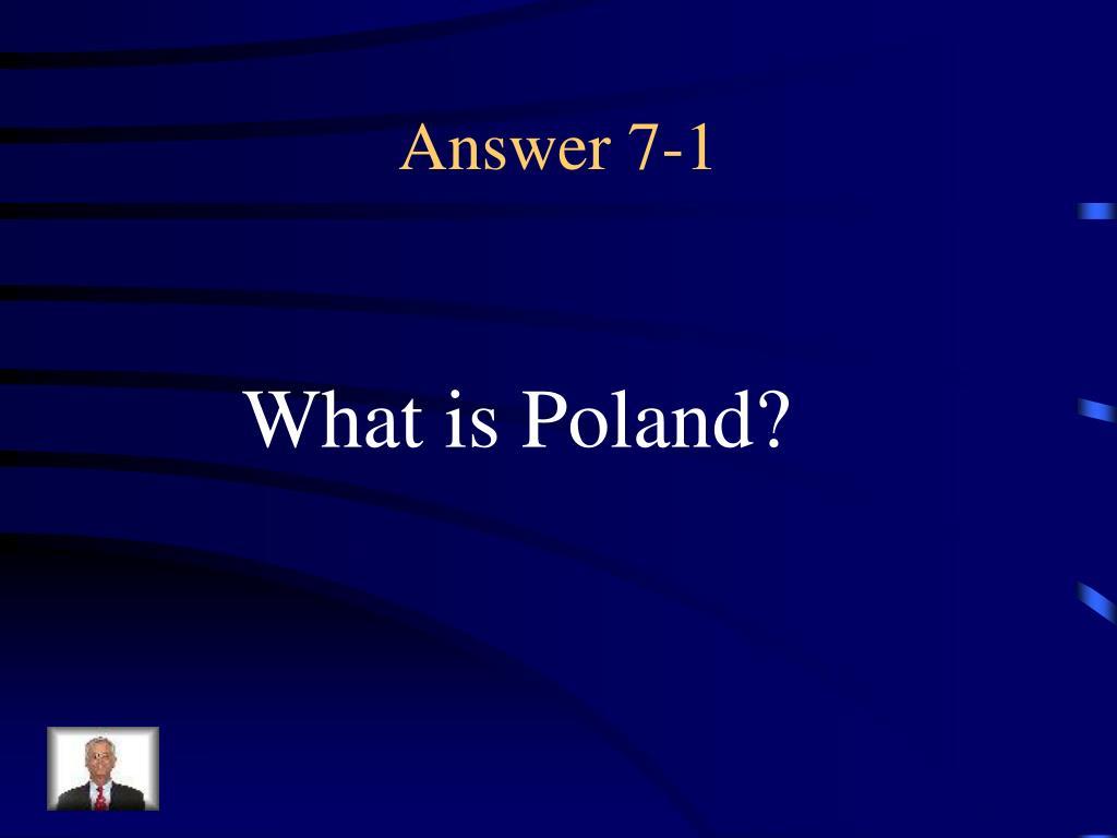 Answer 7-1