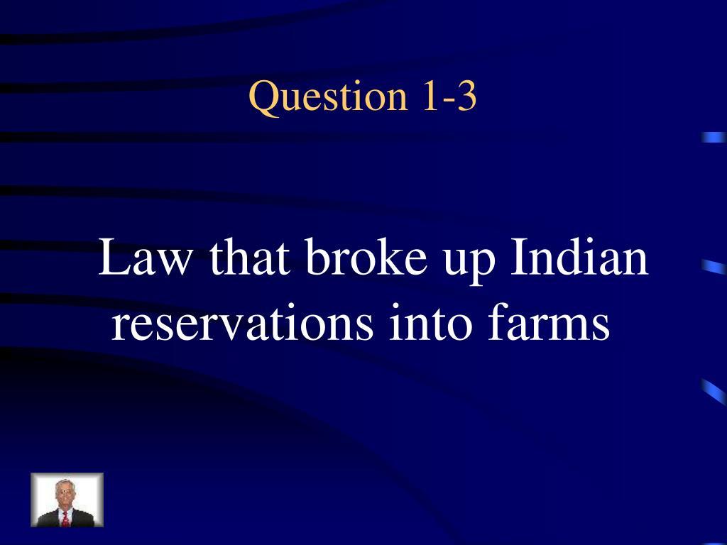 Question 1-3