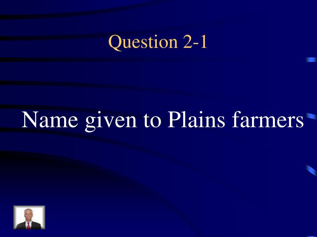 Question 2-1