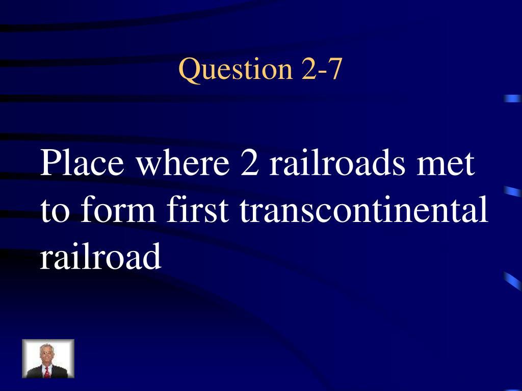 Question 2-7