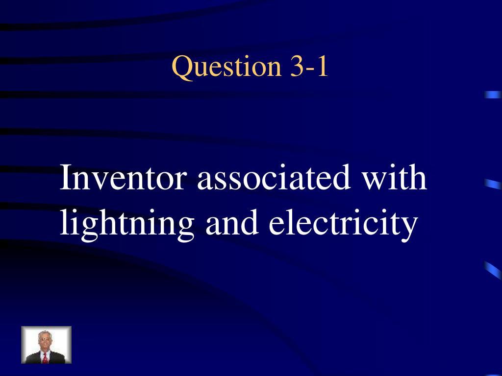 Question 3-1