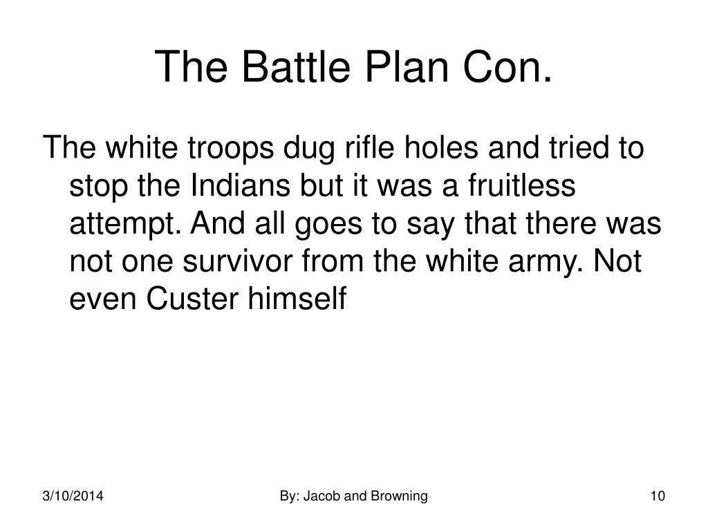 The Battle Plan Con.