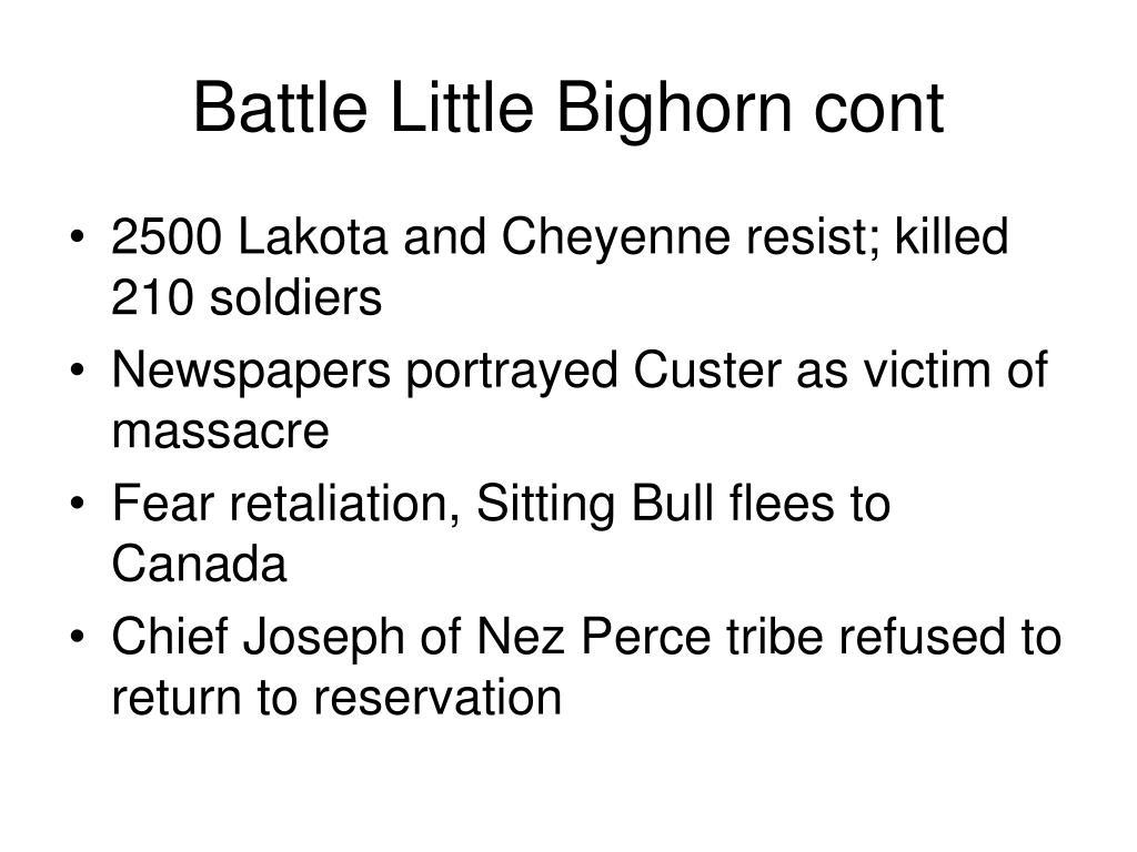 Battle Little Bighorn cont