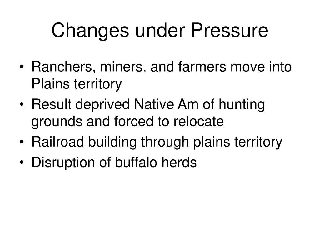 Changes under Pressure