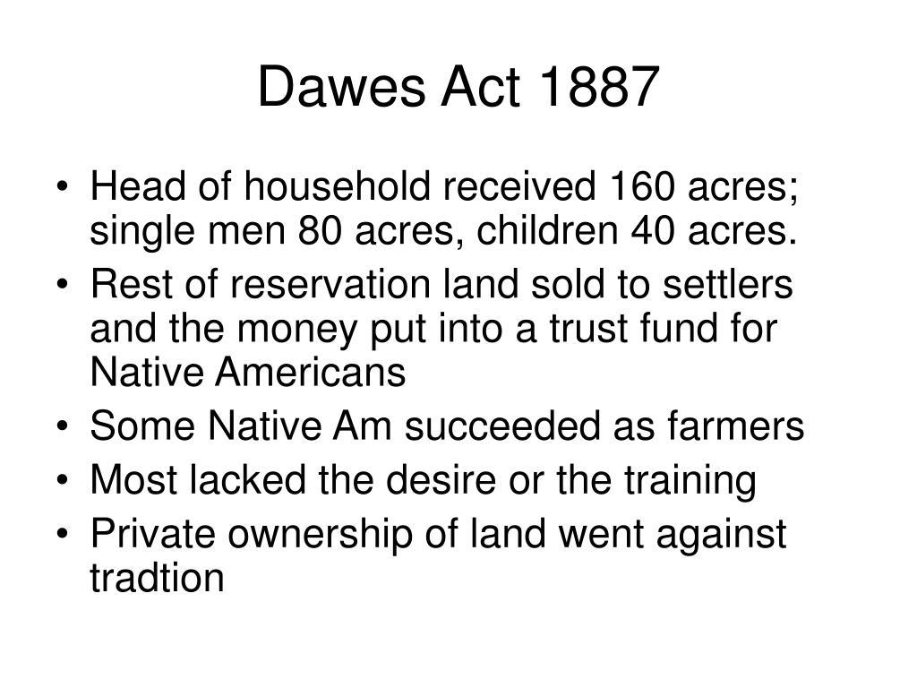 Dawes Act 1887