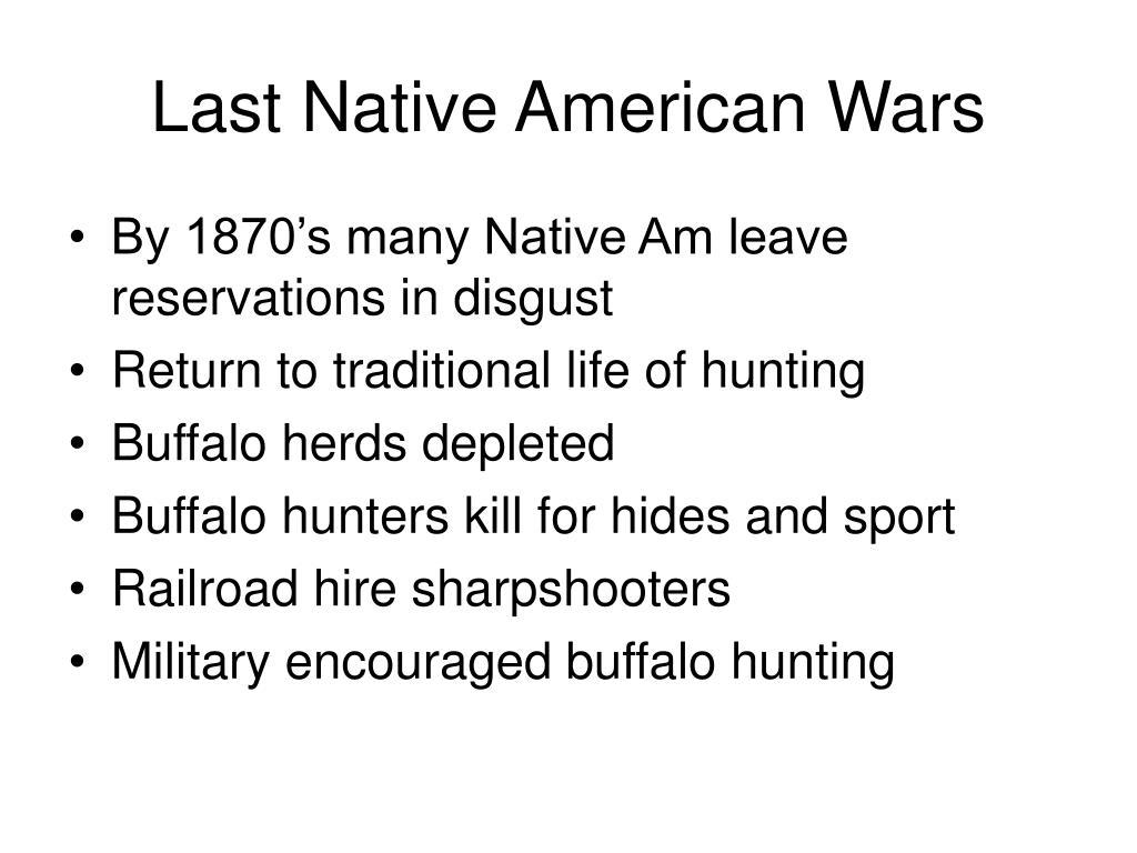 Last Native American Wars