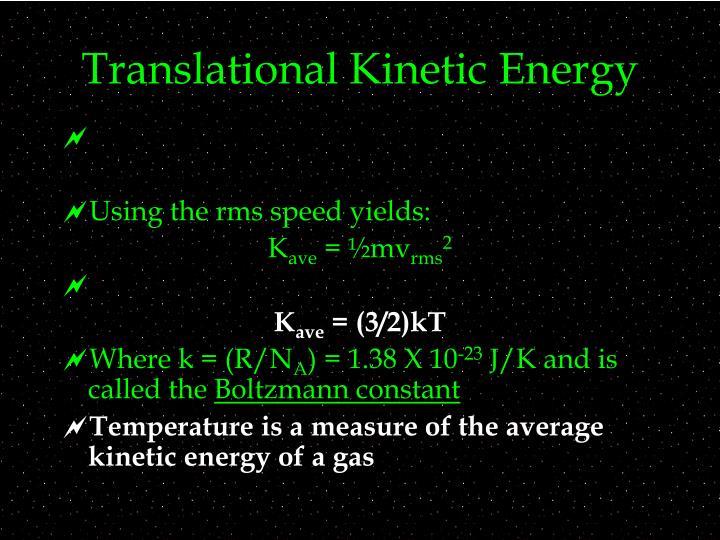 Translational Kinetic Energy