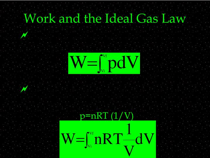 Work and the Ideal Gas Law