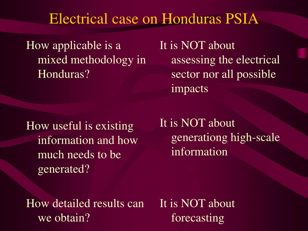 How applicable is a mixed methodology in Honduras?