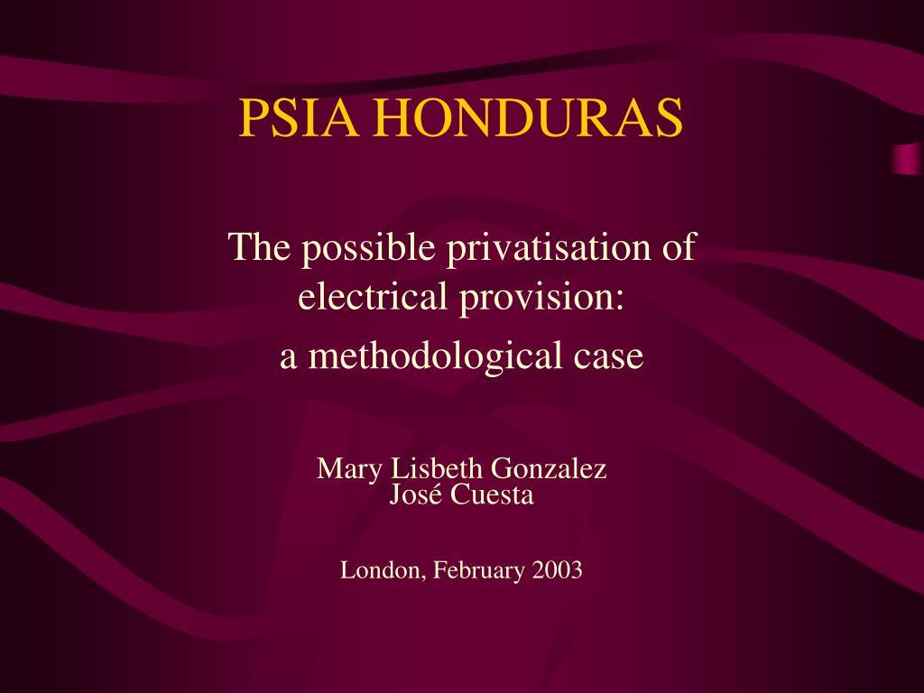 PSIA HONDURAS