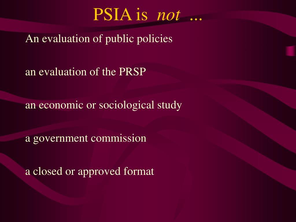 PSIA is