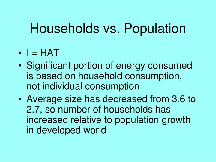 Households vs. Population