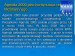 agenda 2000 jako kontynuacja reformy mcsharry ego