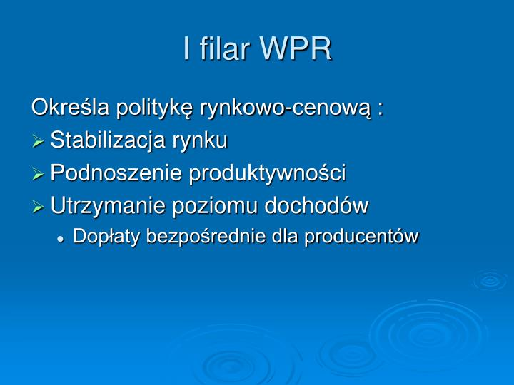 I filar WPR