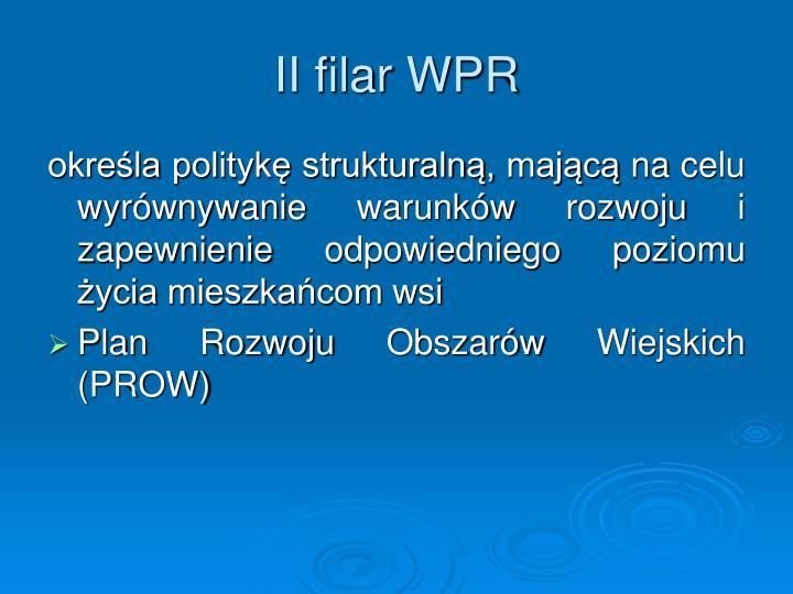 II filar WPR
