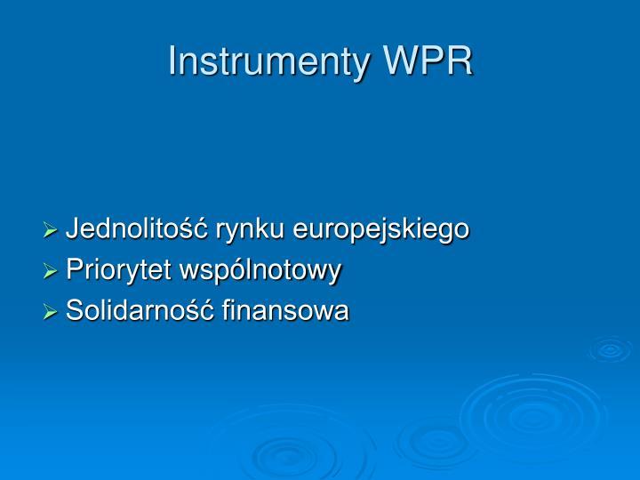 Instrumenty WPR