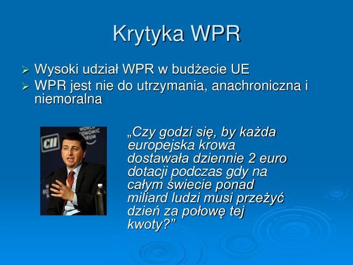 Krytyka WPR