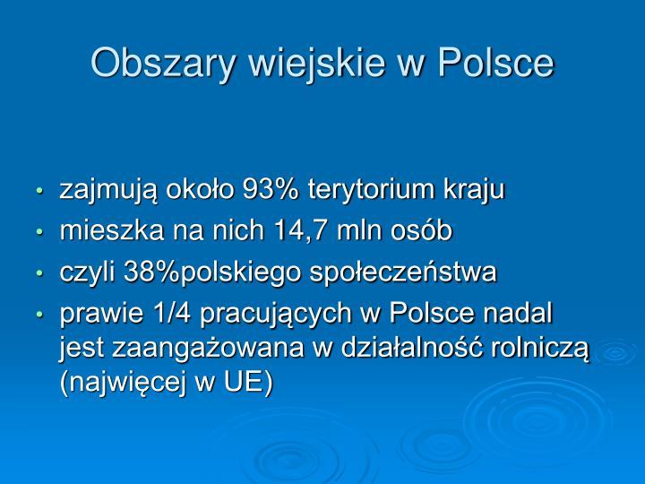 Obszary wiejskie w Polsce