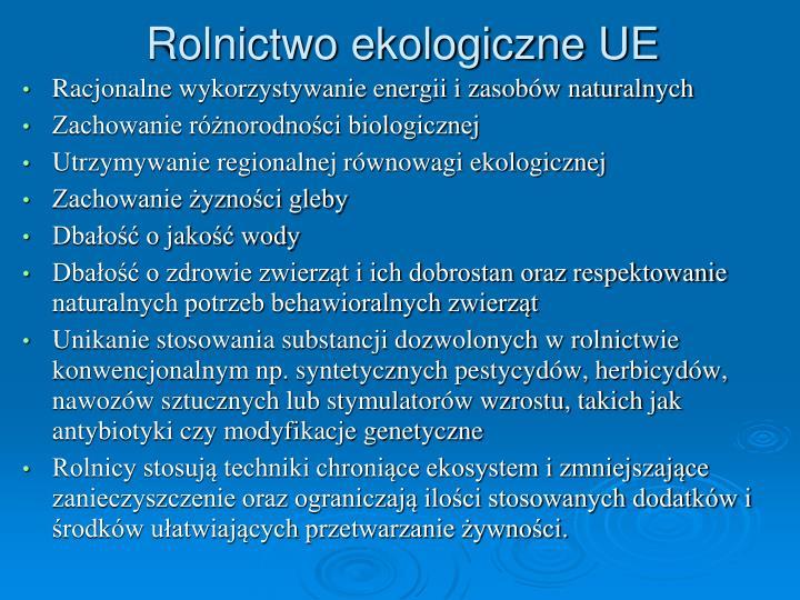 Rolnictwo ekologiczne UE