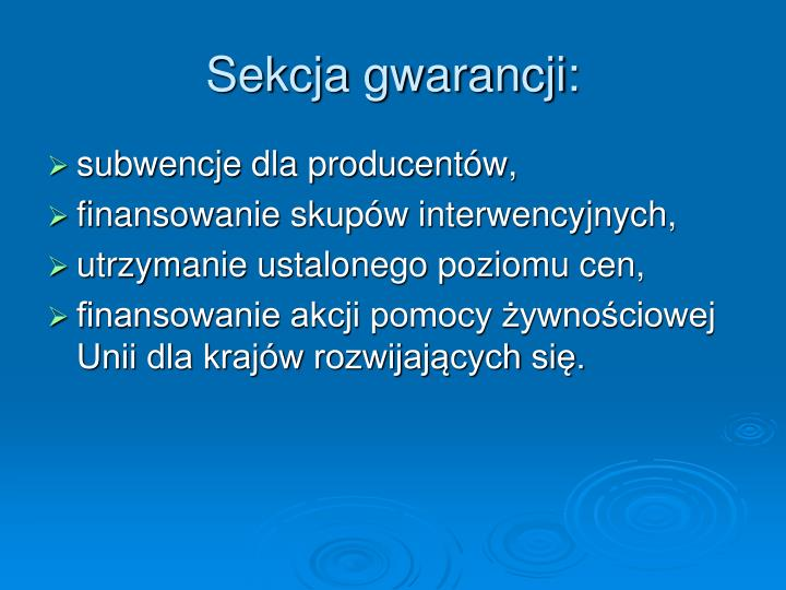 Sekcja gwarancji: