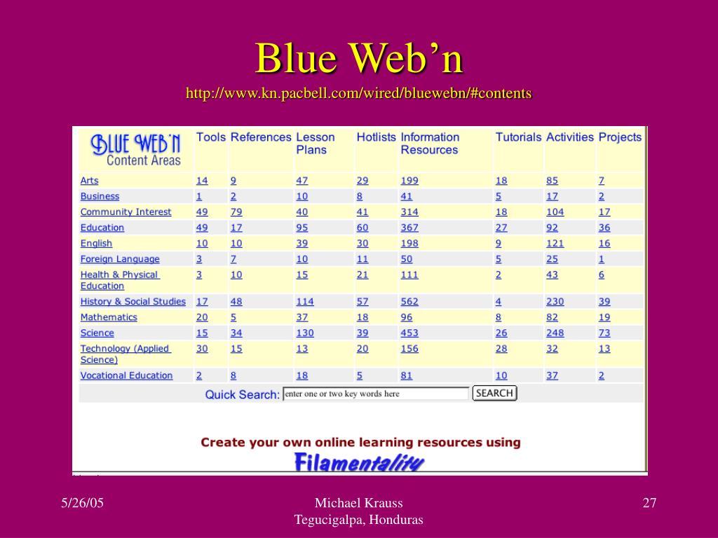 Blue Web'n