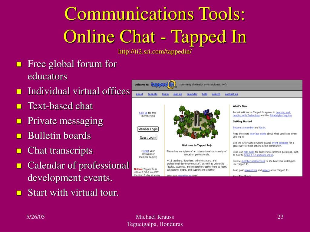 Communications Tools: