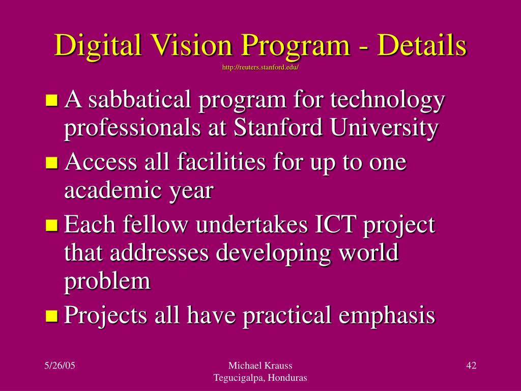 Digital Vision Program - Details