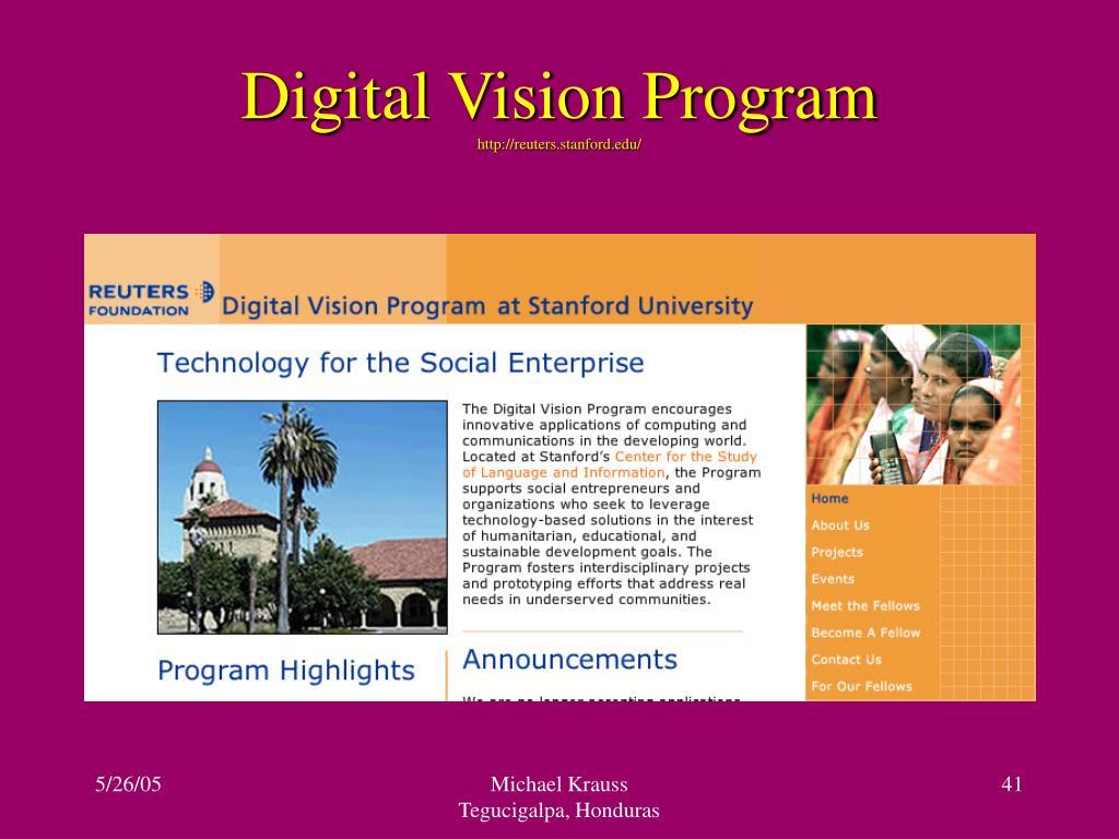 Digital Vision Program