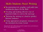 skills students need writing