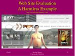 web site evaluation a harmless example http www malepregnancy com
