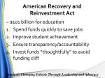 american recovery and reinvestment act1