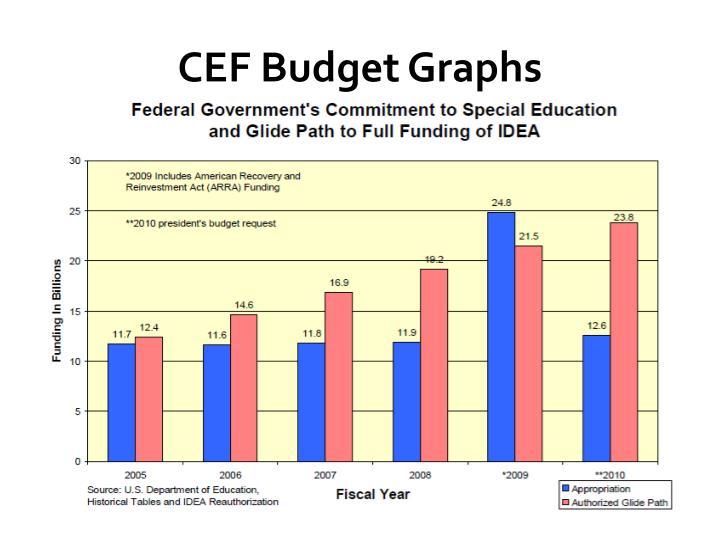 CEF Budget Graphs