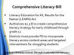 comprehensive literacy bill