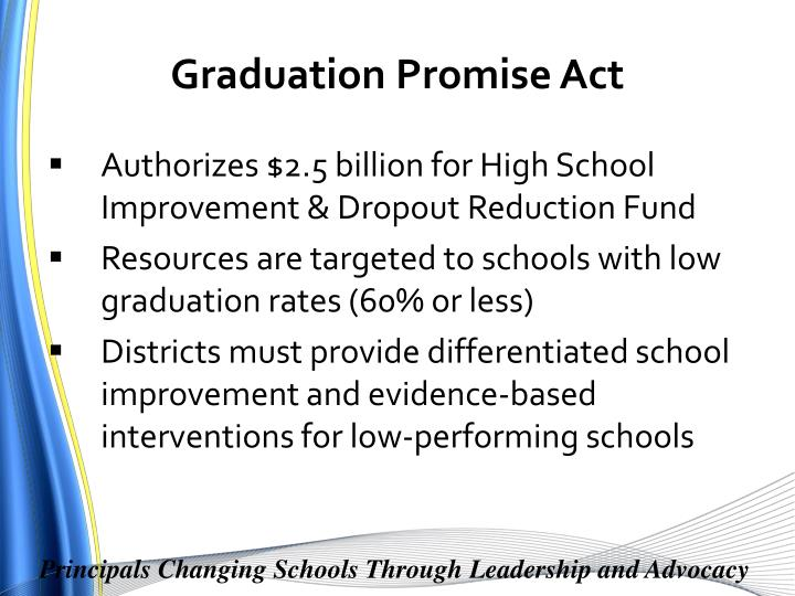 Graduation Promise Act