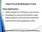 state fiscal stabilization fund4