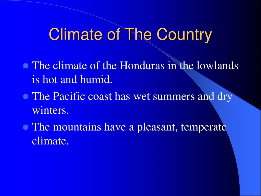 Climate of The Country