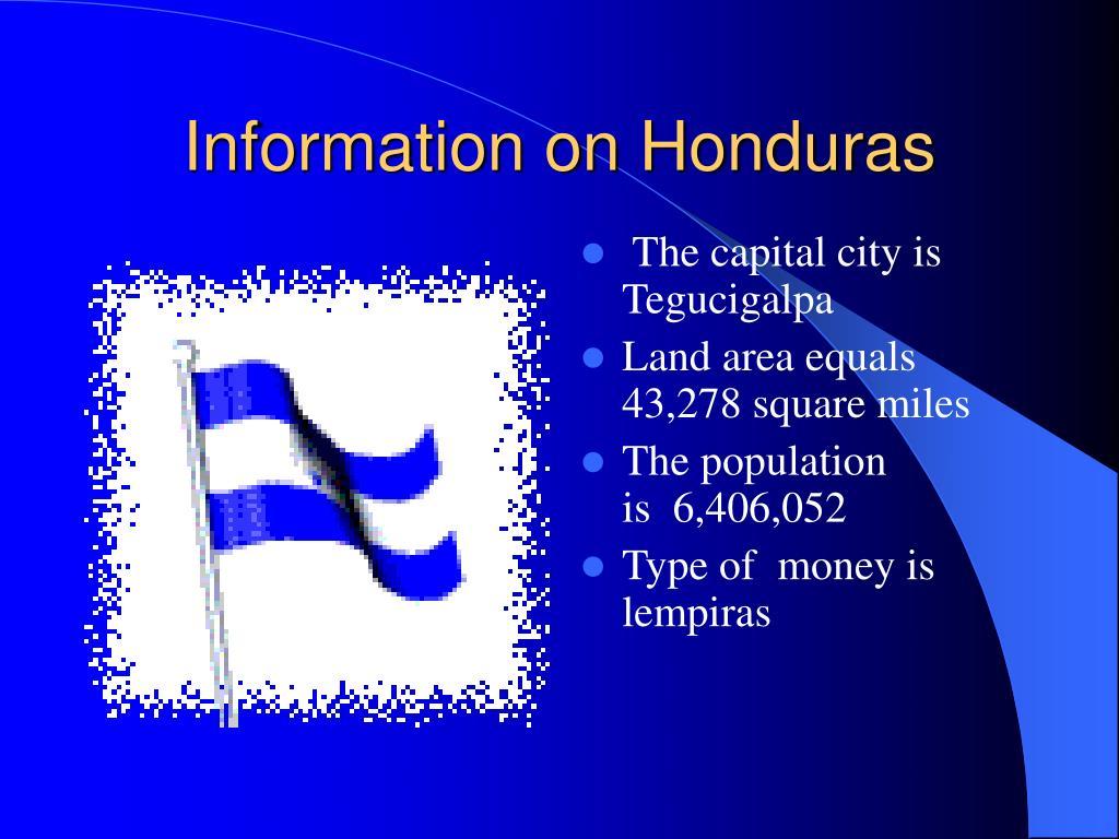 Information on Honduras