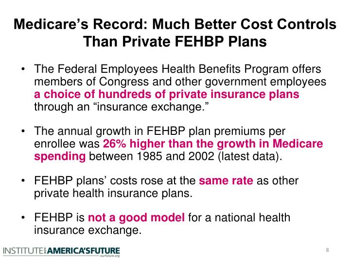 Medicare's Record: Much Better Cost Controls Than Private FEHBP Plans