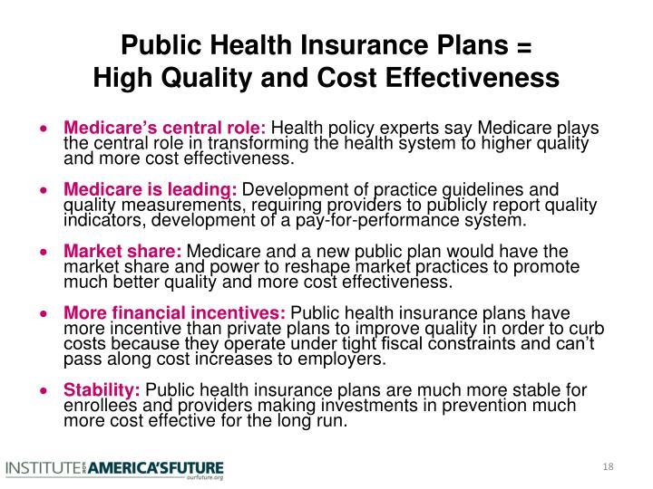 Public Health Insurance Plans =