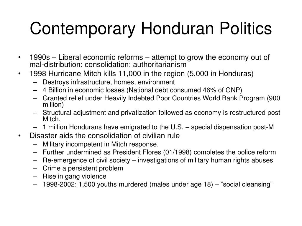 Contemporary Honduran Politics