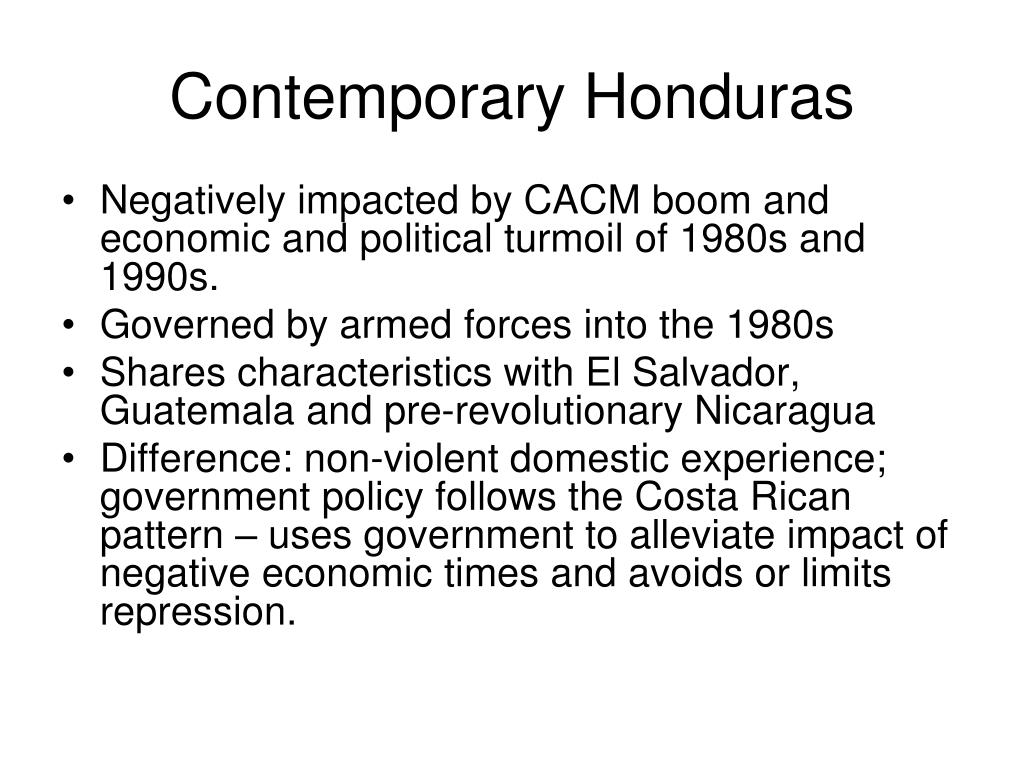 Contemporary Honduras